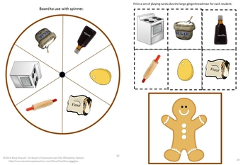 Bundle Gingerbread NO PREP/LOW Prep Math and Literacy Centers Printables