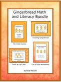 Gingerbread Man Activities, Kindergarten Christmas Math and Literacy BUNDLE