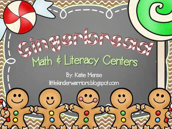 Gingerbread Math and Literacy Centers for Kindergarten