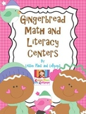 Gingerbread Math and Literacy Centers for Independent Practice