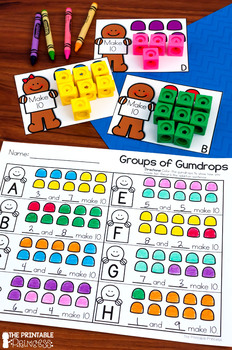 Kindergarten Gingerbread Centers for Math and Literacy Activities