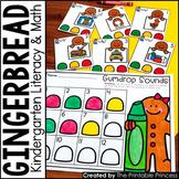 Kindergarten Gingerbread Centers for Math and Literacy Activities
