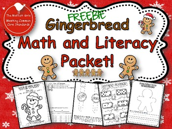 Gingerbread Math and Literacy Pack (FREE)!