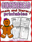 Gingerbread Math and Literacy Printables