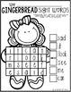 Gingerbread Math and Literacy Worksheets and Printables for Kindergarten
