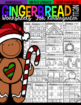 Gingerbread Math and Literacy Worksheets and Printables fo