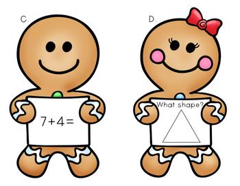 Gingerbread Math the Room - First Grade
