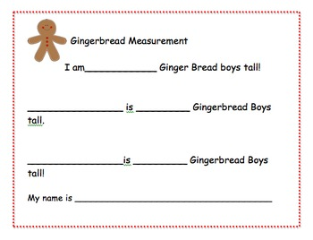 Gingerbread Measurement with the Gingerbread Boy!