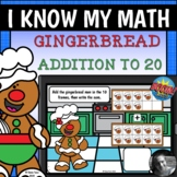 Gingerbread Men 10 Frames - Addition to 20 Set 1 Boom Cards™