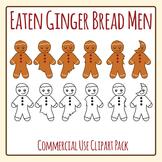 Gingerbread Men Being Eaten Clip Art Set for Commercial Use