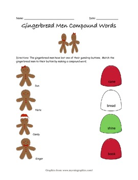 Gingerbread Men Compound Words