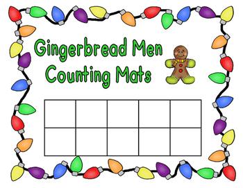 Gingerbread Men Counting Mats