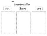 Gingerbread Men Graphic Organizer