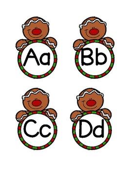 Gingerbread Men Letter & Number Packet