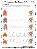 Gingerbread Man Line Tracing