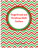 Gingerbread Men Math Centers