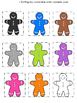 Gingerbread Men Math Color Center Packet