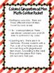 Gingerbread Men Math Color Center Packet