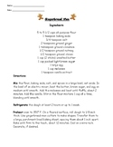Gingerbread Men Recipe Reading Comprehension