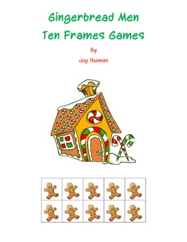 Gingerbread Men Ten Frames Games