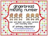 Gingerbread Missing Number {Freebie}