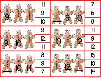 Gingerbread Missing Number Math Center Freebie