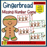 Gingerbread Missing Number Math Center {FREE}