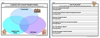 """Gingerbread Mouse"" Literacy Companion Pack -comprehension, writing CCSS aligned"
