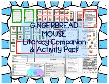 """""""Gingerbread Mouse"""" Literacy Companion Pack -comprehension"""