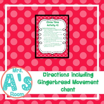 Gingerbread Movement Circle Time Game