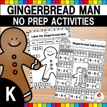 Gingerbread No Prep Activities (Math and Language Arts)