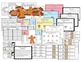 Gingerbread Noun, Verb, Adjective Game with posters, bracelets, worksheets