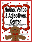Gingerbread Nouns, Verbs and Adjectives Sort with Posters