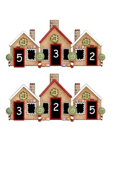 Gingerbread Fact Families ~ Sums to 5