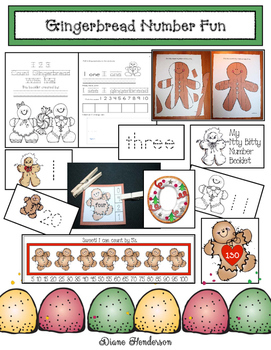 50% Off Gingerbread Number Fun: PK-1 Math Packet