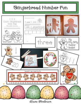 Gingerbread Number Fun: PK-1 Math Packet