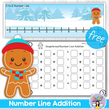 Gingerbread Number Line Addition to 12