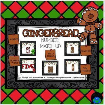 Gingerbread Number Match Up Math Center