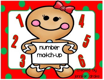 Gingerbread Number Match-Up!  Math Center/Game!  CC Aligned! PreK-1
