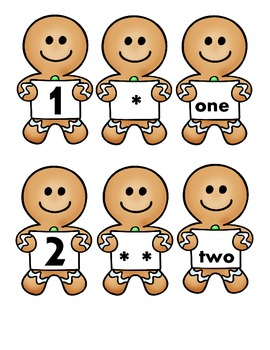 Gingerbread Number Matching and 1:1 Correspondence
