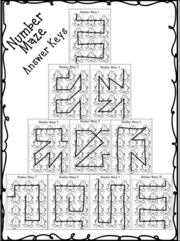 Gingerbread Number Mazes