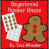 Gingerbread Number Mazes ~Math Games ~ Math Centers