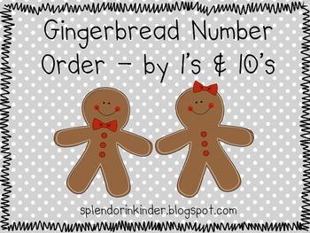 Gingerbread Number Order Activity
