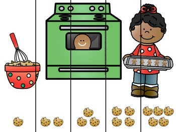 Gingerbread Number Ordering Puzzles 1-5