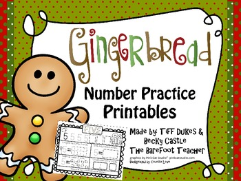 Gingerbread Number Practice Sheets 1-20
