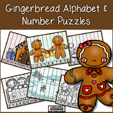 Gingerbread Number and Alphabet Puzzles