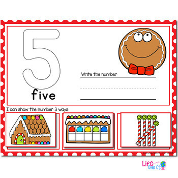 Gingerbread Number Recognition Mats | Ten-frames, Array, Tally Marks