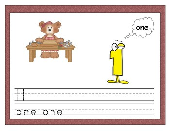 Gingerbread Number Recognition and Counting Practice 1-9