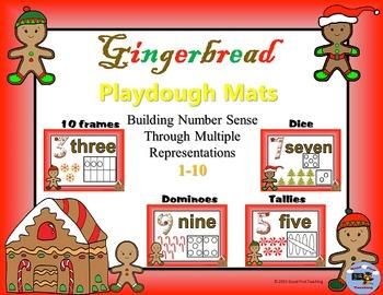 Gingerbread Number Sense Playdough Mats Bundle