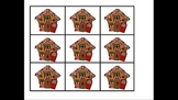 Christmas Math Kindergarten Gingerbread House Number Word Matching 1 to 30